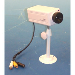 Camera audio surveillance video b / w black and white 9v + monitor support m12s1