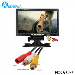 Monitor colour video surveillance monitor 7'' 18cm lcd colour video audio monitors + remote control video surveillance monitor c