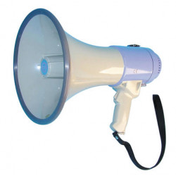Megaphone 25w megaphone + siren, 0.5 to 1km, ø230x370mm megaphone voice clear voice projection hand held megaphone power megapho