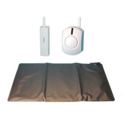 Kit tappeto contatto negozio + campanello senza filo tappeti contatti allarmi sistema sorveglianza negozii