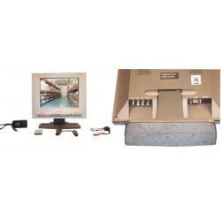 Monitor video schermo del pc 10,4 '26cm audio video vga rca subd 300x250x50mm solcd ha1000