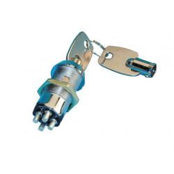 Interrupteur commutateur a clef a pompe serrure electrique marche arret inverseur verrouillage porte