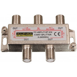 Repartiteur F satellite 1x in - 4x out 2250 MHz 12.0 - 17.0 dB