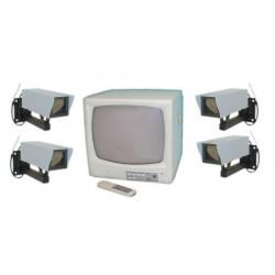 Kit video vigilancia 4 canales con 4 camaras y monitor 12'' video vigilancia camaras monitores
