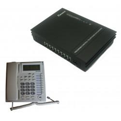 Pack central telephonique 1 ligne 6 postes autocommutateur téléphone autocom standard