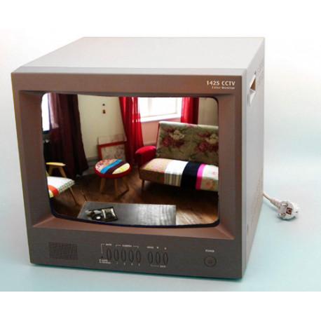 Monitore colore 14'' 35cm 400l audio +selettore 4 canali doc1400 schermo sistema videosorveglianza