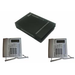 Pack pabx autocommutateur central telephonique 1 ligne 8 postes téléphone autocom standard