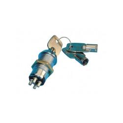 Serrure electrique interrupteur marche arret commutateur 4 plot 3 clef ronde verrouillage electrique
