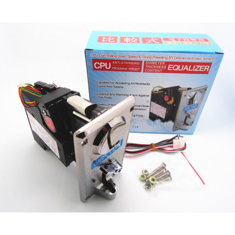 Zinc alloy front plate KAI 638 Advanced CPU Coin Selector Acceptor, suitable for coins and tokens
