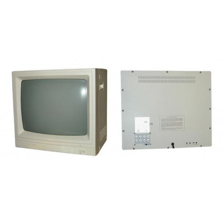 Monitor video surveillance 20'' 45cm b w video monitor + audio, 220vac video surveillance monitor video surveillance 20'' 45cm b