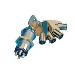 Serrure electrique interrupteur marche arret commutateur 4 plots 5 clefs code 3333 verrouillage