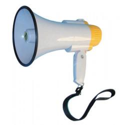 Megaphone 5w megaphone, 150 to 300m, ø130x190mm megaphone voice clear voice projection hand held megaphone power megaphone voice