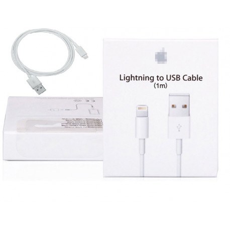 Cord 100 cm usb cable charger for iphone syncronisateur 5 5c 5s + carton packaging
