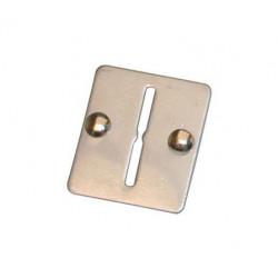 Placa metal 2 ranuras para ficha 2 ranuras para monedero a fichas majtf2 monederos fichas