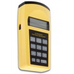 Ultrasonic distance meter with laser
