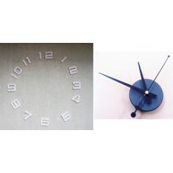 Lot de 12 chiffres 5x4.5cm + horloge murale a monter soi meme mecanisme a quartz