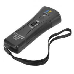 Il doppio dirige ultrasuoni scacciacani / Super Dog Chaser e traning cane con luce LED e laser 4 in 1