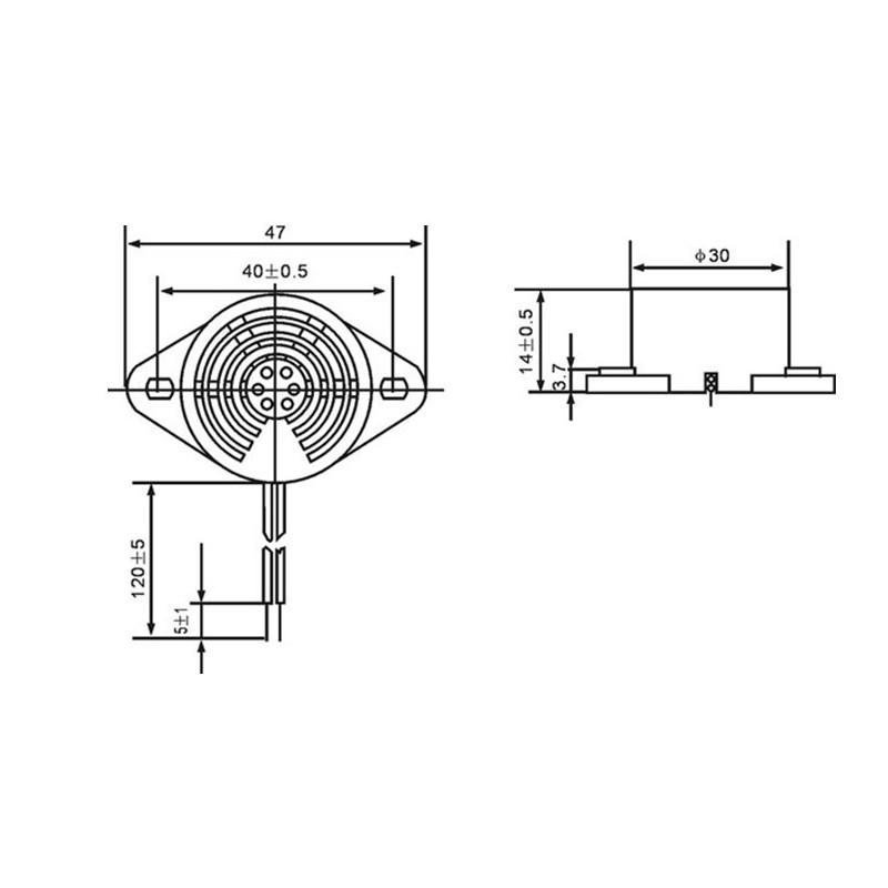 Buzzer alarm siren beep 220v ac hyt-3015c 230v 240v AC sound device