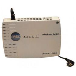 Central telephonique pabx standard 4 lignes 16 postes analogique autocommutateur téléphone autocom