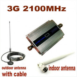 3G WCDMA 2100MHZ Mobile Phone Signal Booster Signal Repeater Cell Phone Amplifier With Cable + Antenna