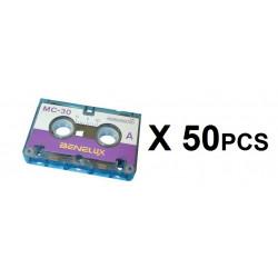 Cintas audio miniaturas 30 minutos (por 50 unidades) acesorios sistema vigilancia seguridad miniatura grabaciones 30 minutos