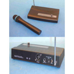 Receiver high frequency 1 channel 1 microphonewithout wire high frequency hf 260mhz 30 130m sono micro hf without wire