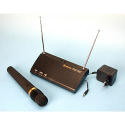 Receptor hf 1 canal + 1 microfono inalambrico hf 212.320mhz 30 130m para sonorizacion