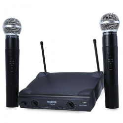 Receiver high frequency + 2 microphones vhf 170 260mhz 30 130m receiver + micros professionnal