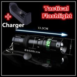 Torche led Q5 7w 3 Modes Rechargeable Zoomable LED Lampe De Poche