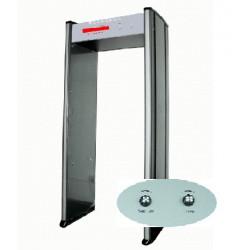 Pórtico de detección de metales 1 área seguridad electrónica conteo detector de la alarma del detector de metales