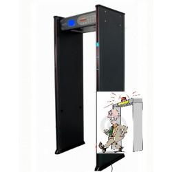 Pórtico de metal  6 aera del hospital clínico de la seguridad aeroportuaria recuento de detección de temperatura de zona de porc