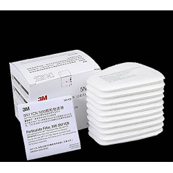 10 filtre de coton 3M 5N11 pour Masque a gaz double 6200 6800 7502