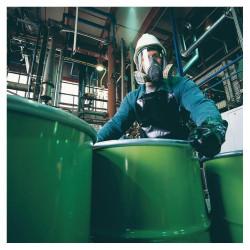 Masque a gaz facial respiratoire 6800 en136 +  2 filtres cartouche protection chimique