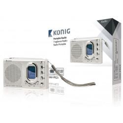 Portable digital display clock radio konig 2 bands FM MW SW 1-7 band