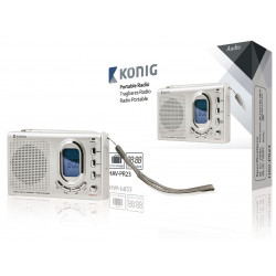 Radio Konig reloj pantalla digital portátil de 2 bandas banda FM MW SW 1.7