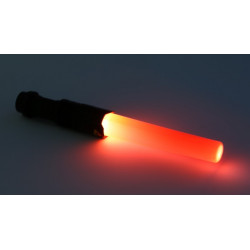 SK68 Q5 300-Lumen Lens LED Flashlight Portable LED Flashlight Torch Lamp Outdoor Travel w/Red Light Stick
