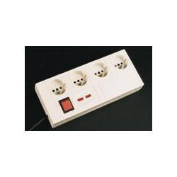 Parafulmine elettrico 4 prese 220vca filtro sovratensione ca362fe parafulmine elettrico protezioni da fulmini