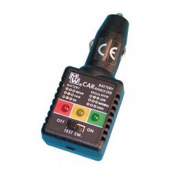 Testeur electronique de batterie voiture et allume-cigare automobile