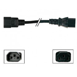 Elektrisches verlangerungskabel euro stecker euro buchse schwarz 1.8m elektrisches zubehor netzkabel verlangerungskabel