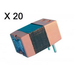 Lot de 20 convertisseurs tension 220v 110v 45w 50w changeur 220 110vca adaptateur electrique