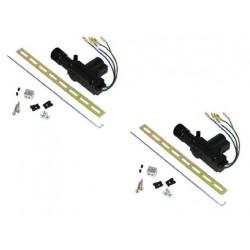 2 X Motore elettrico 12vcc 5 fili per catenaccio porta sistema allarme veicoli macchine