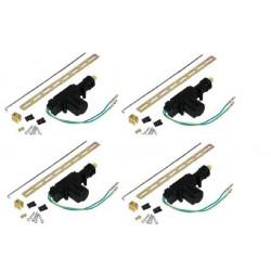 Lot de 4 moteurs electrique 12v 2 fils ht602 pour verrouillage porte systeme alarme vehicules auto