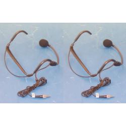 2 X Microfono casco dinamico 80hz 12,000hz sonorizacion