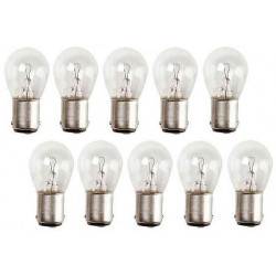 Lot de 10 ampoules electrique 24v 21w b15 b15s ba15 ba15s eclairage lampe pour gyrophare