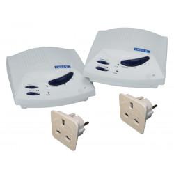 Interphone secteur sans fil main libre 3 voies avec adaptateur intercom 3 canaux communication