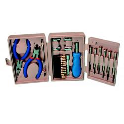 Boite a outils compact vtts 2 pinces tournevis magnétique embouts 6 tournevis de précision