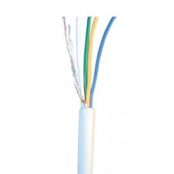 Sheathed flexible cable, 4x0.22 ø4mm, white, 1m phone cable fire alarm cable signal cable sheathed cable burglar alarm wire secu