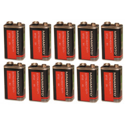 Pila 9vcc zinc carbono (10 pcs) 400ma (6lr61 6lf22 1604) pilas zinc carbona alimentaciones