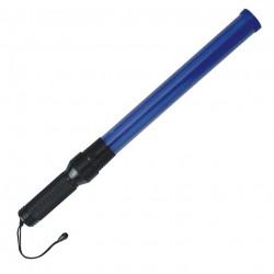 blau leuchtender stab polizei verkehrszeichnen strasse flug