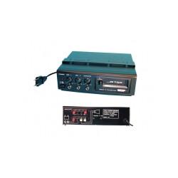 Amplificateur public adress mono 15w lecteur k7 220vca/12vcc paa40t ampli electronique